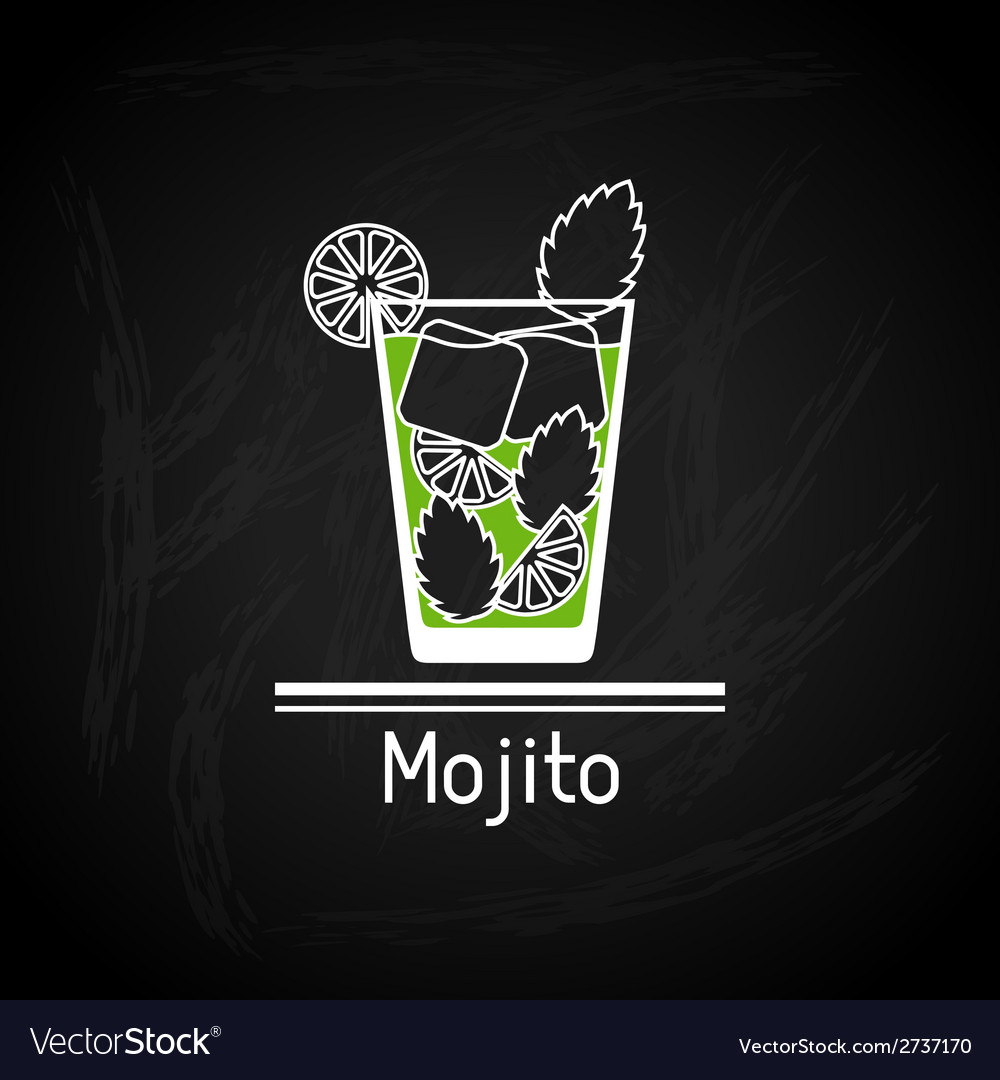 With glass of mojito for menu cover vector | Price: 1 Credit (USD $1)