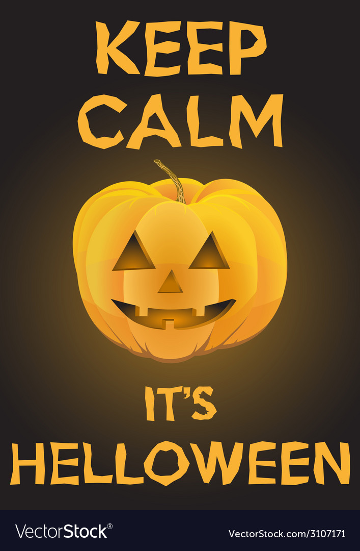 Background keep calm with pumpkin for halloween vector | Price: 1 Credit (USD $1)