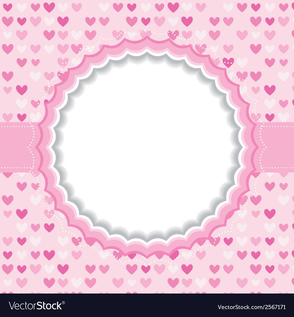 Blank frame with heart background vector | Price: 1 Credit (USD $1)