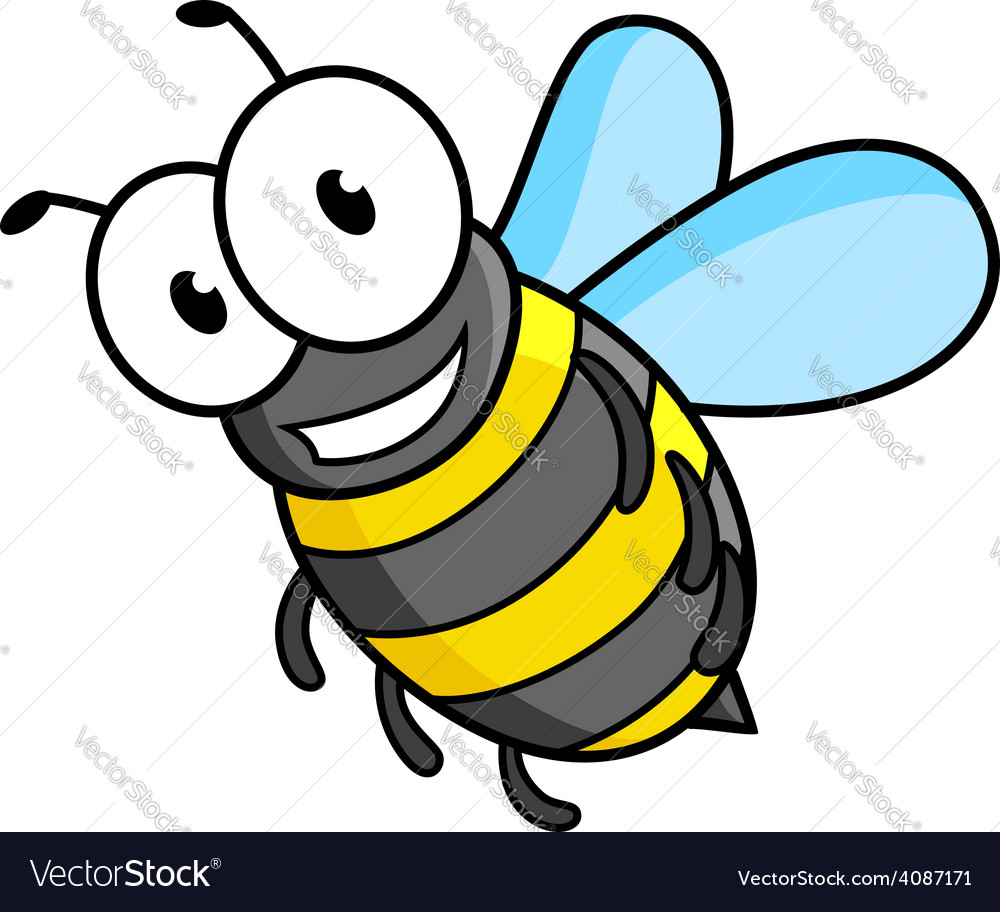 Cartoon bee or wasp character vector | Price: 1 Credit (USD $1)