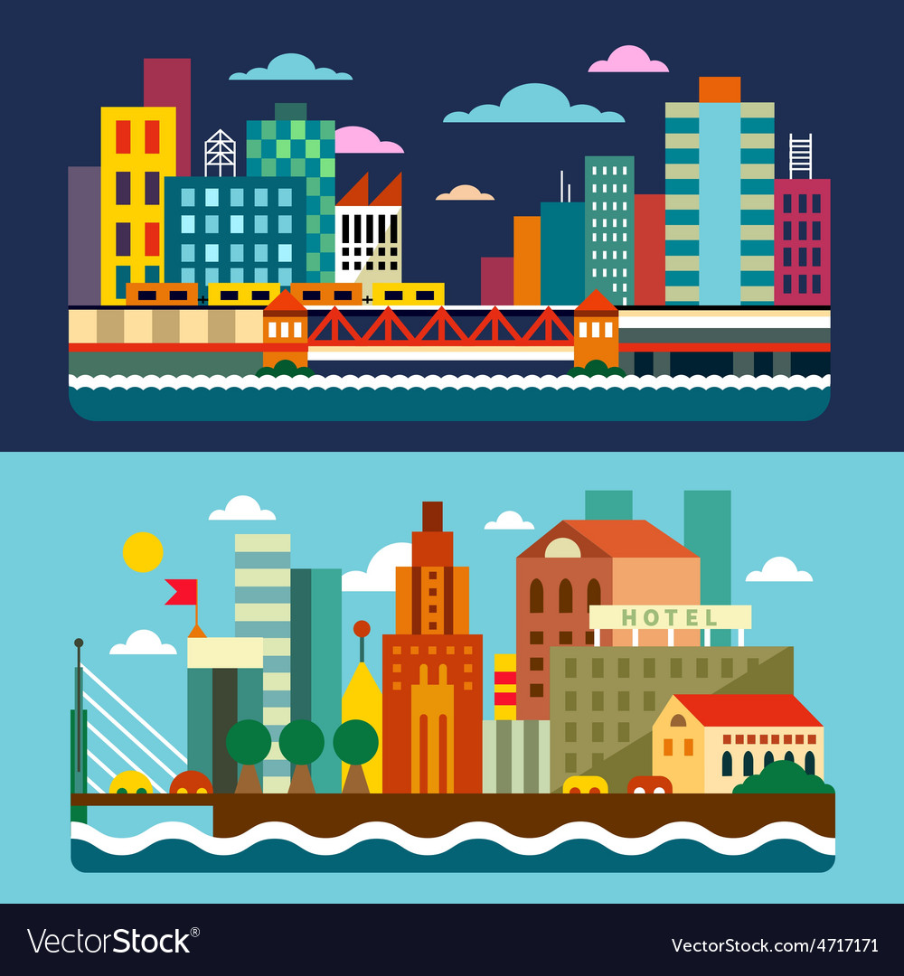 City skyline vector | Price: 3 Credit (USD $3)