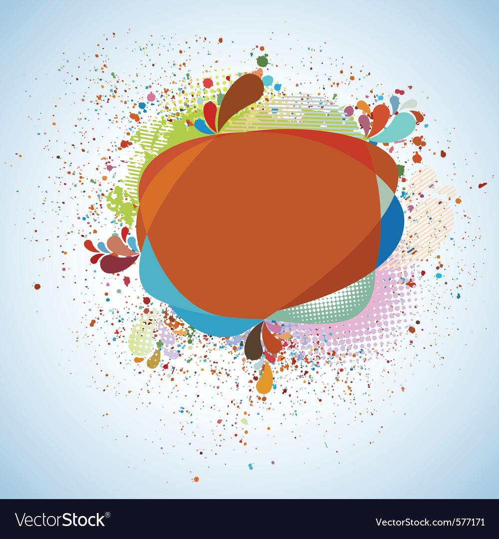 Decorative organic bubble design vector | Price: 1 Credit (USD $1)