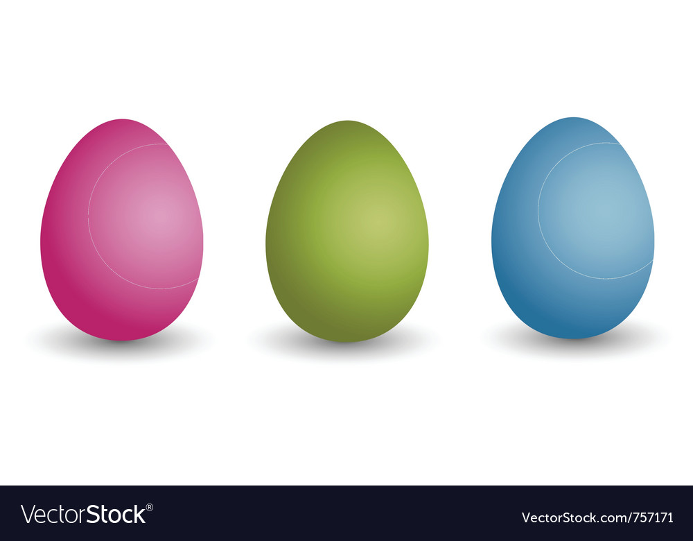 Easter eggs happy easter vector | Price: 1 Credit (USD $1)