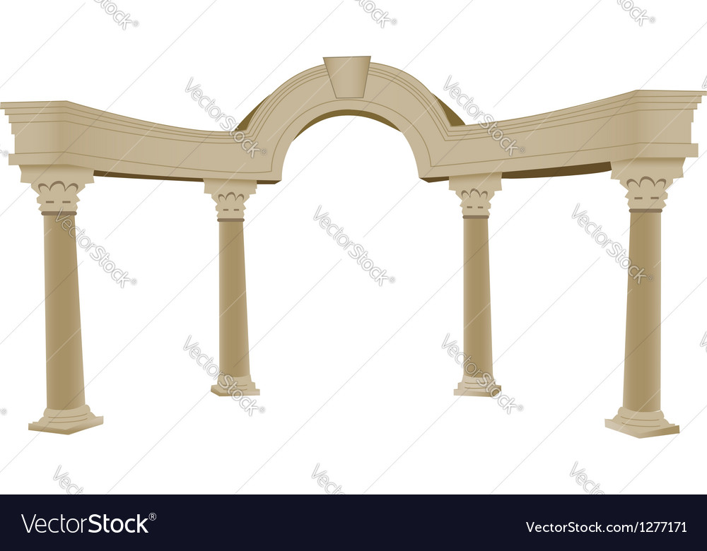 Greek arch column vector | Price: 1 Credit (USD $1)