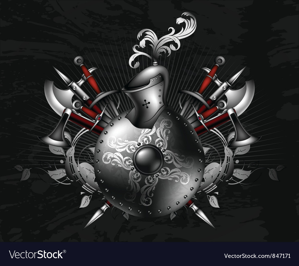 Ornamental shield vector | Price: 3 Credit (USD $3)