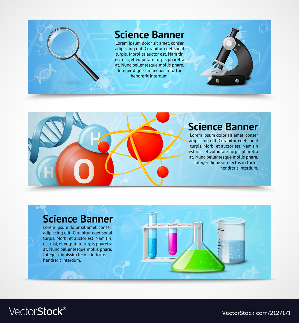 Science realistic banners vector | Price: 1 Credit (USD $1)