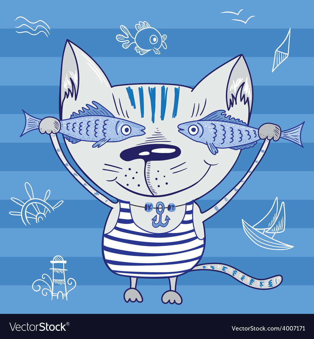 Sea cat vector | Price: 1 Credit (USD $1)