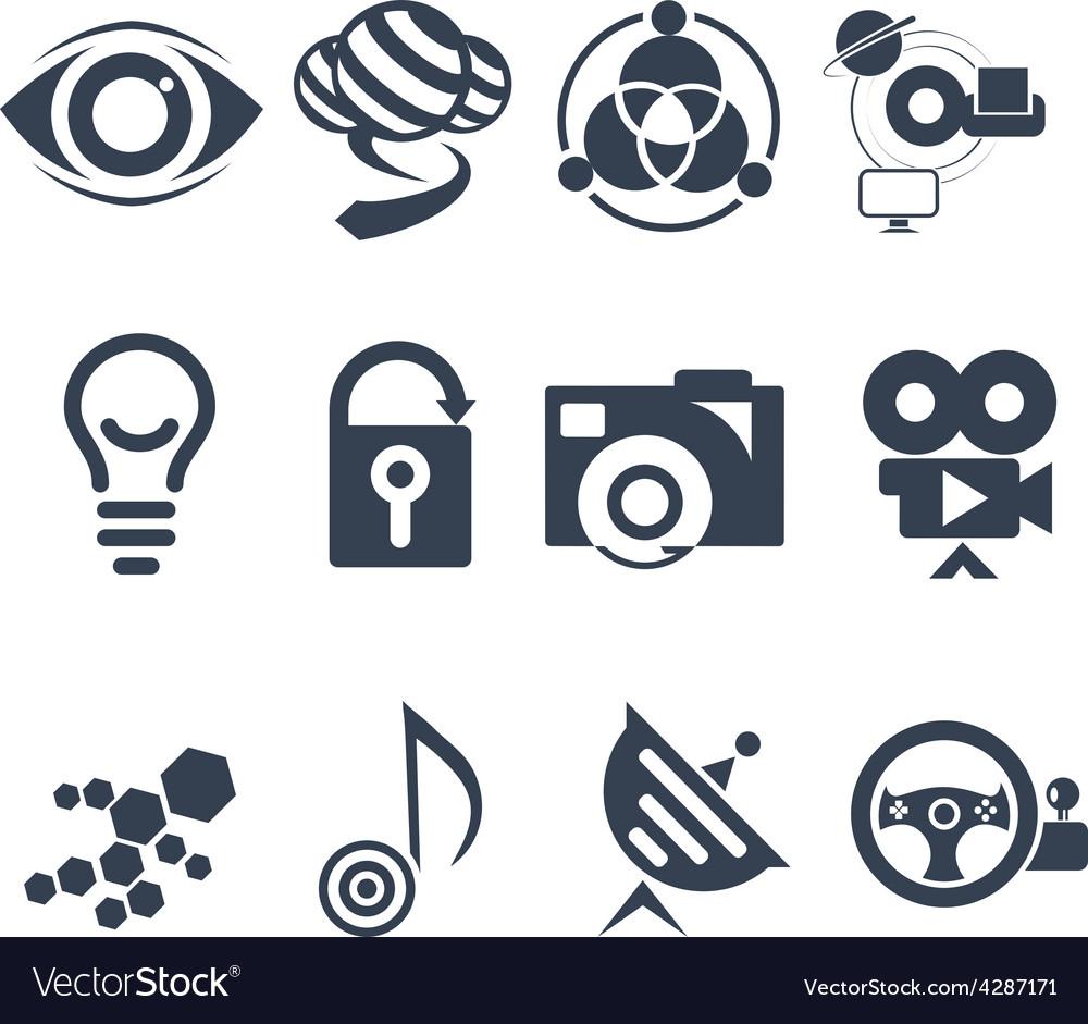Technology mark set vector | Price: 1 Credit (USD $1)