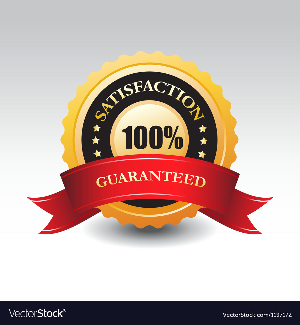 100 satisfaction guaranteed label or sign vector | Price: 1 Credit (USD $1)