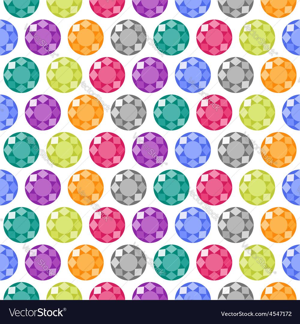 Cartoon gems seamless pattern vector | Price: 1 Credit (USD $1)