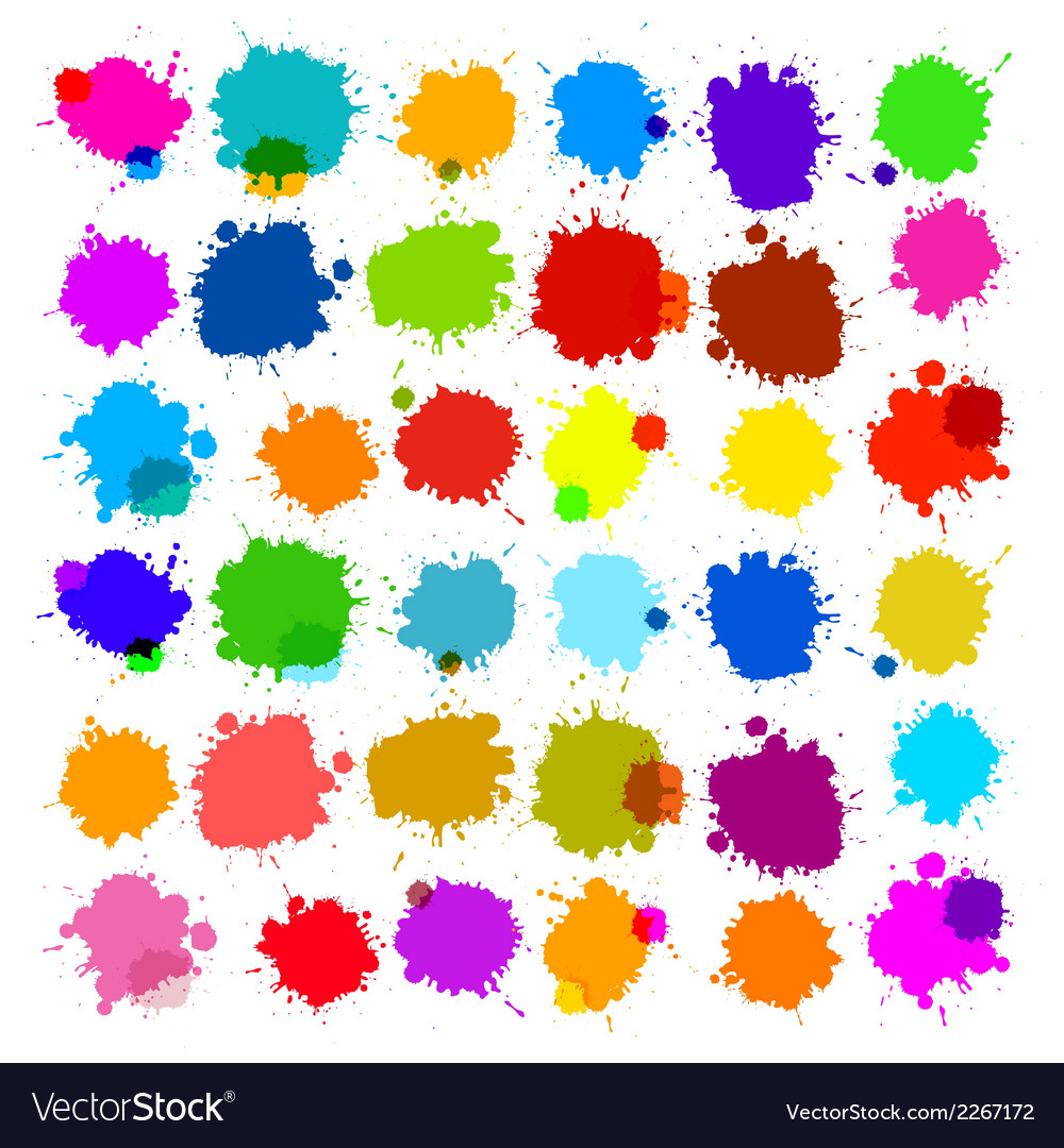 Colorful splashes - blot stains set vector | Price: 1 Credit (USD $1)