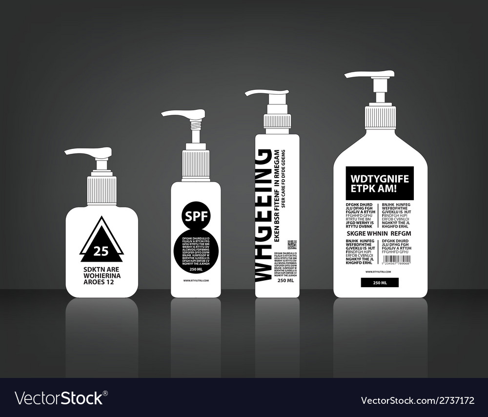 Cosmetics bottle packaging vector | Price: 1 Credit (USD $1)