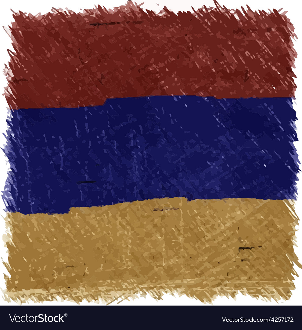 Flag of armenia handmade square shape vector | Price: 1 Credit (USD $1)