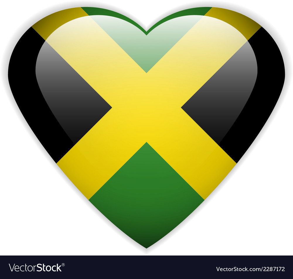 Jamaica flag button vector | Price: 1 Credit (USD $1)