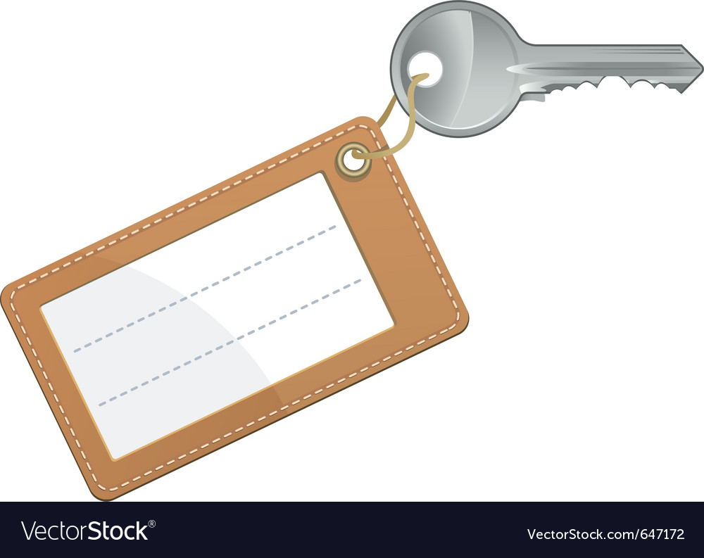 Key with blank text label vector | Price: 1 Credit (USD $1)