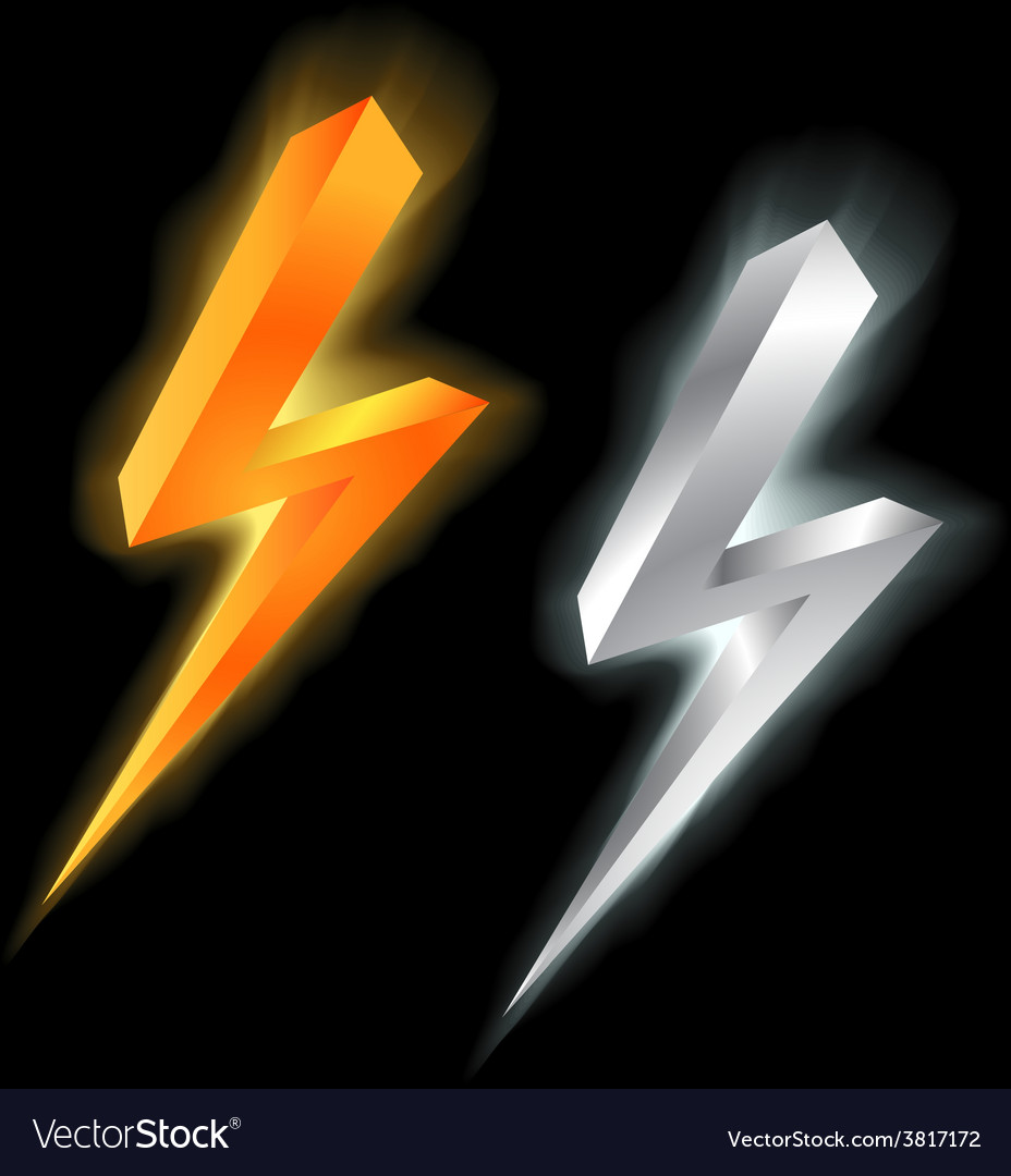 Lightning signs vector | Price: 1 Credit (USD $1)