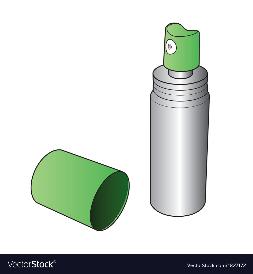 Oral spray bottle vector | Price: 1 Credit (USD $1)