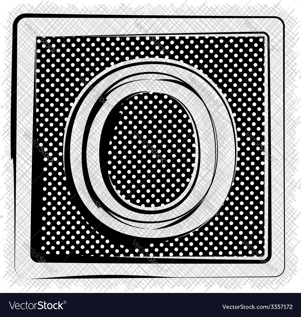 Polka dot font letter o vector | Price: 1 Credit (USD $1)
