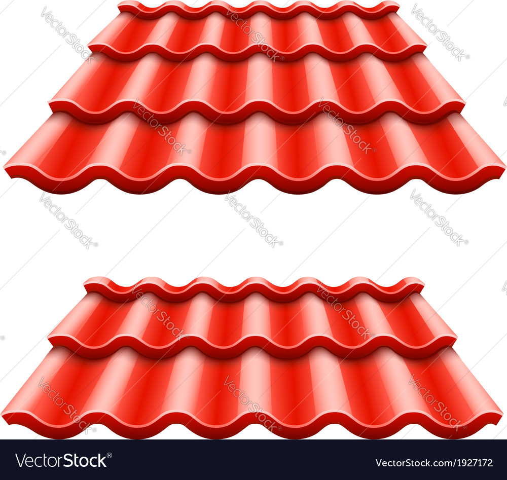 Red corrugated tile element vector | Price: 1 Credit (USD $1)
