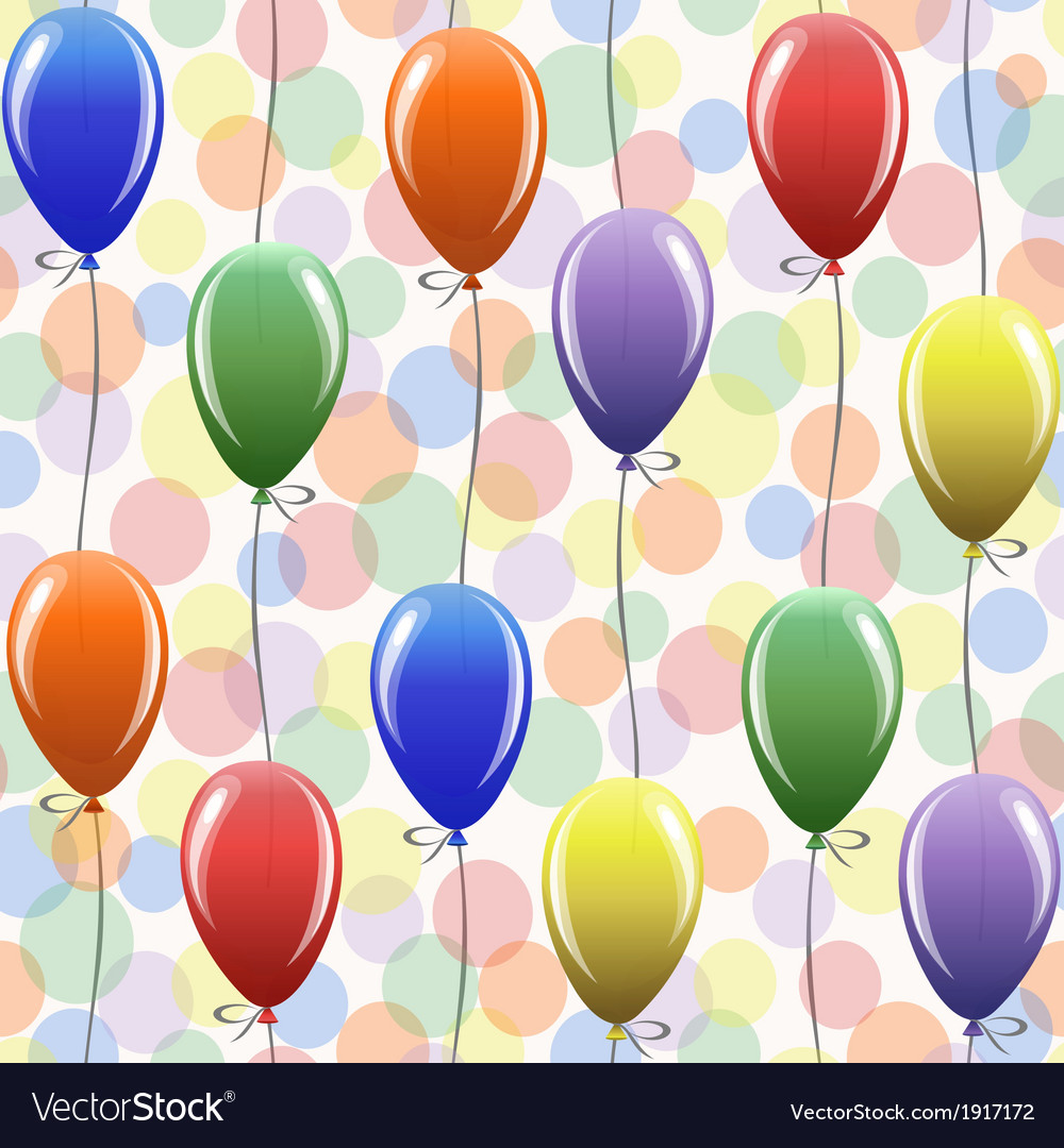 Seamless pattern with balloons vector | Price: 1 Credit (USD $1)