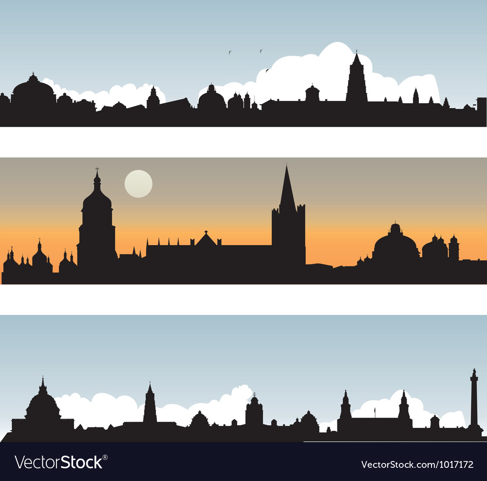 Silhouette of the city vector | Price: 1 Credit (USD $1)