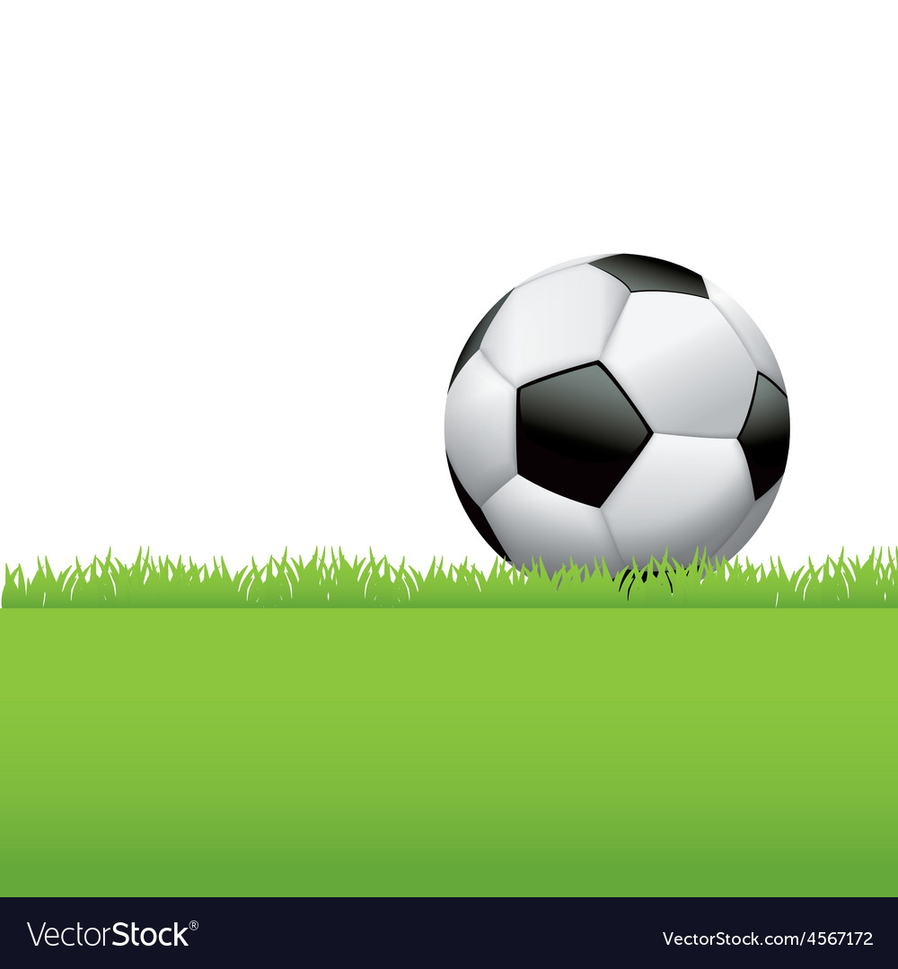 Soccer ball football in the grass vector | Price: 1 Credit (USD $1)