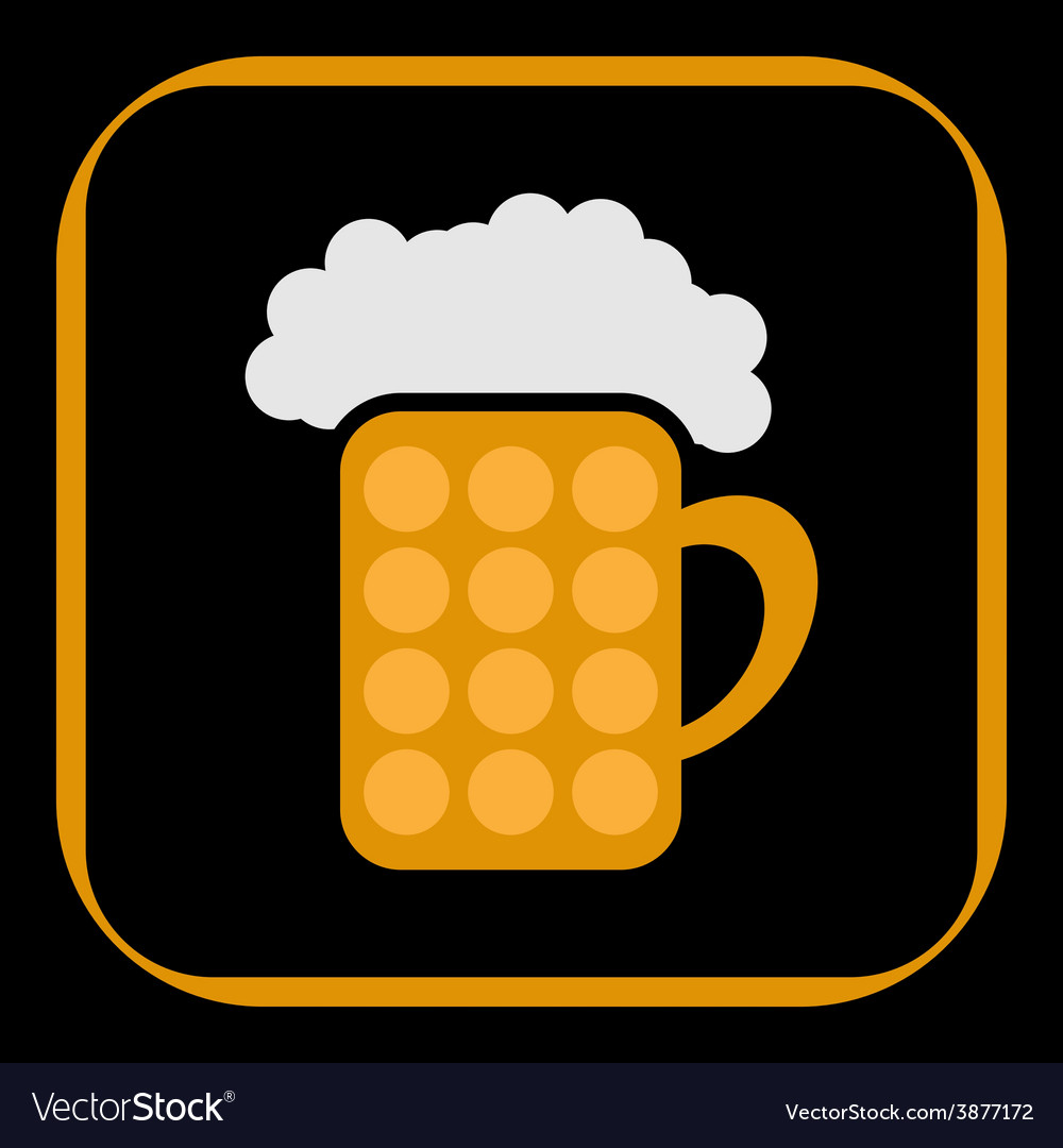 Styled pint of beer vector | Price: 1 Credit (USD $1)