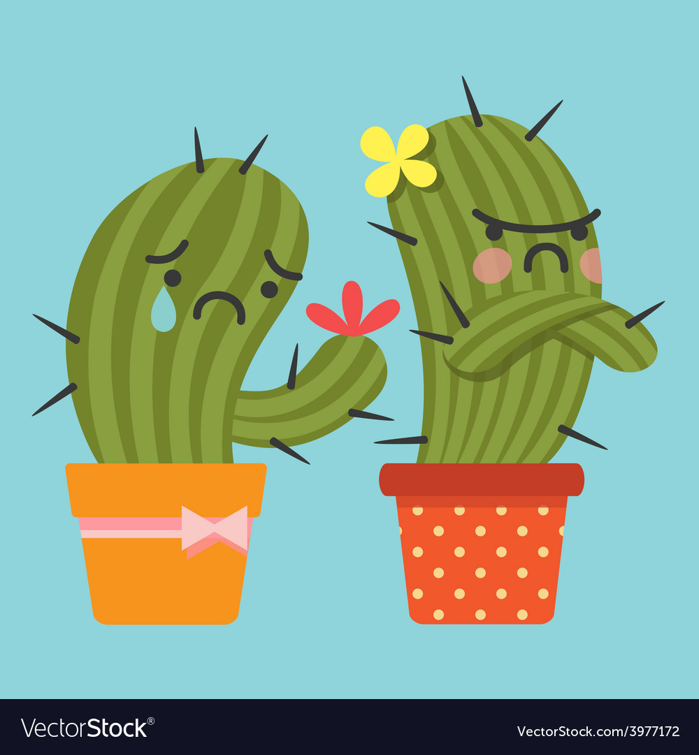 Sulk cactus vector | Price: 1 Credit (USD $1)