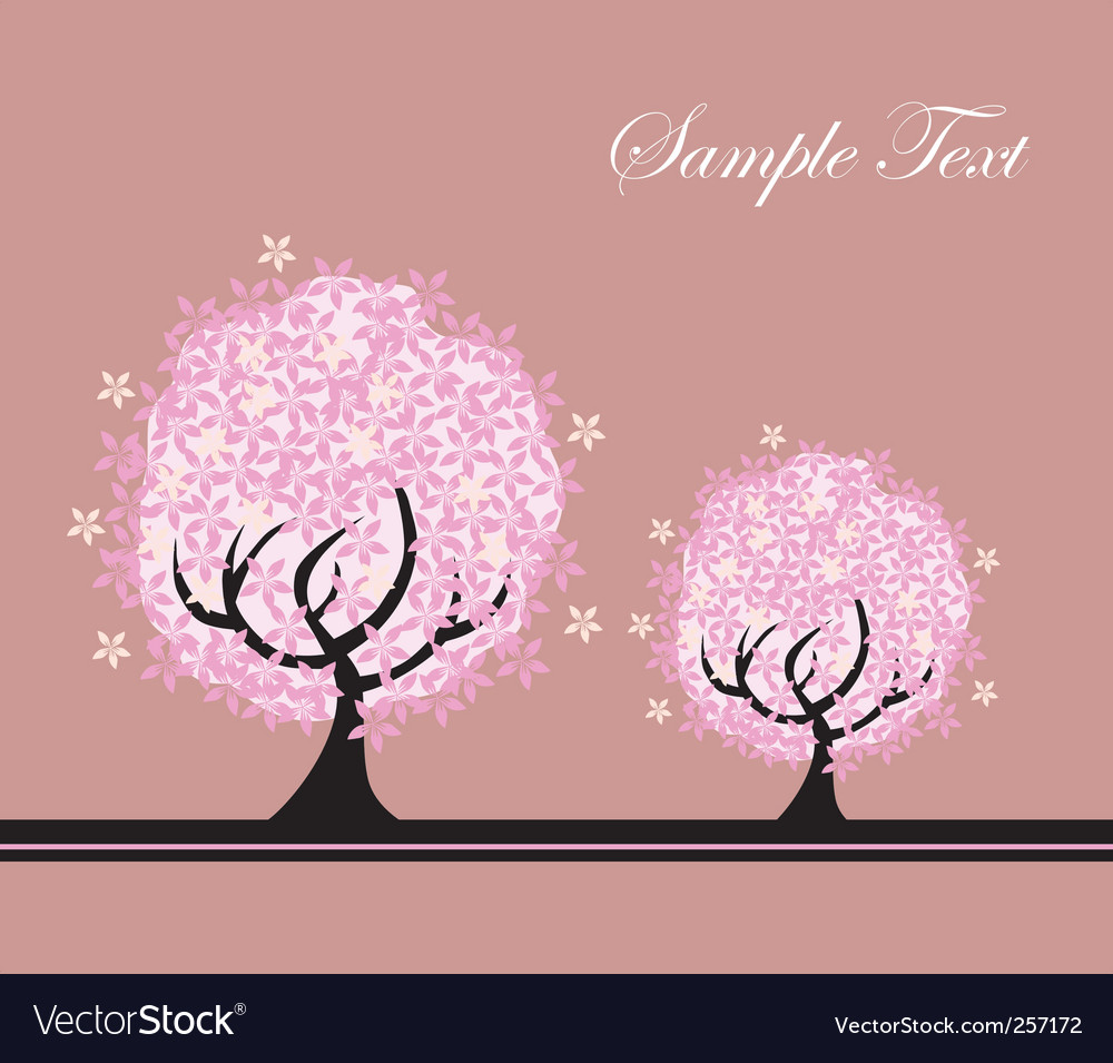 Tree card vector | Price: 1 Credit (USD $1)
