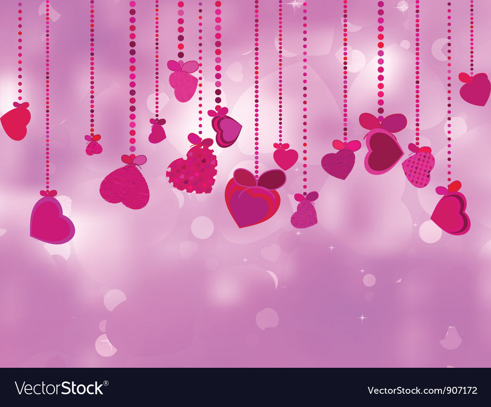 Valentines day with hearts vector | Price: 1 Credit (USD $1)
