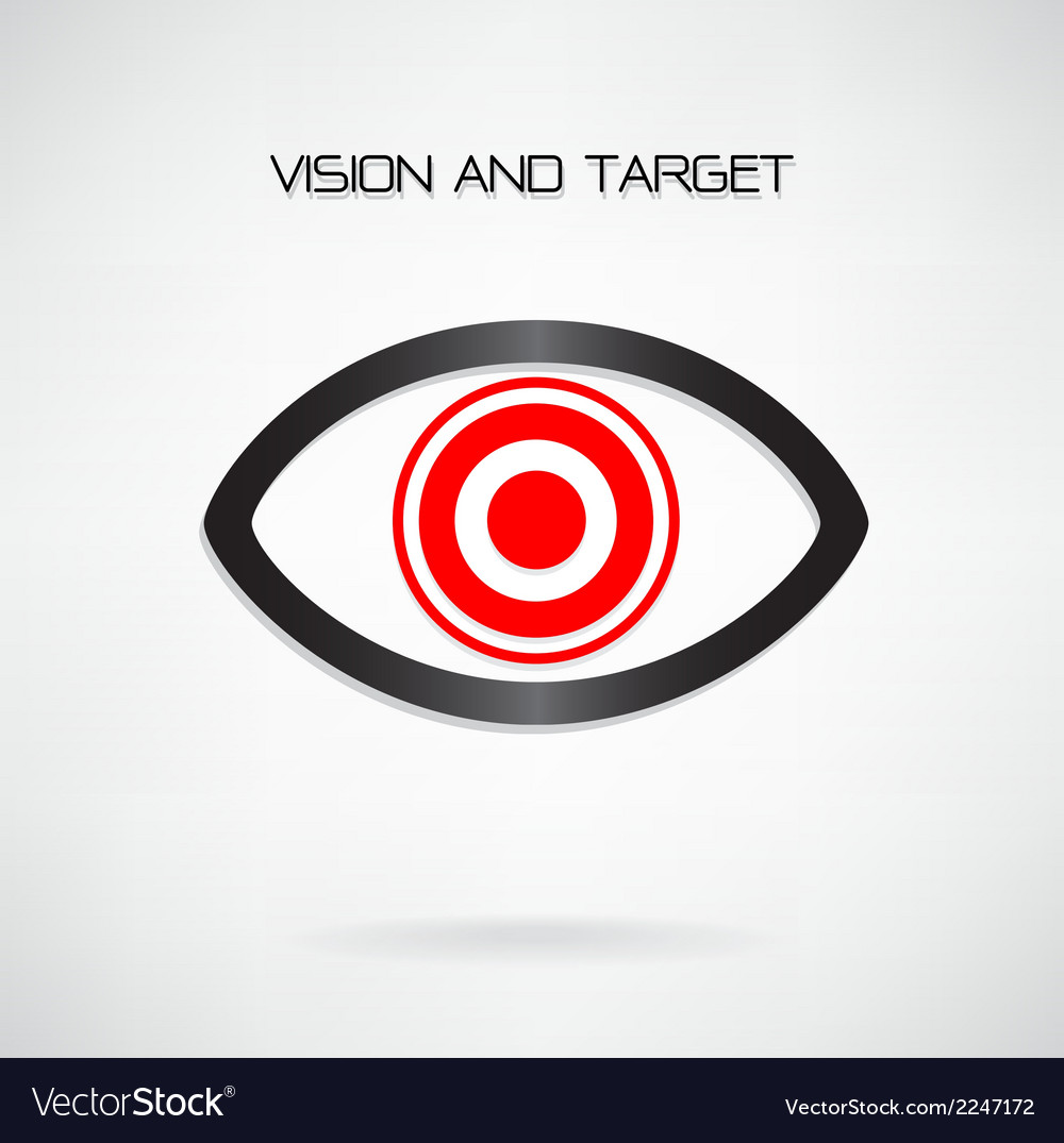 Vision and target concept vector | Price: 1 Credit (USD $1)