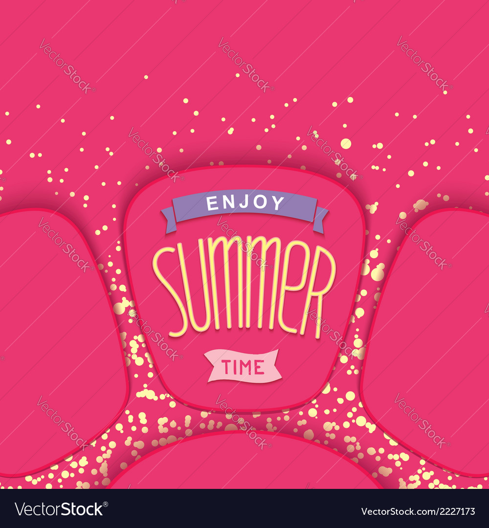 Abstract summer card design vector | Price: 1 Credit (USD $1)