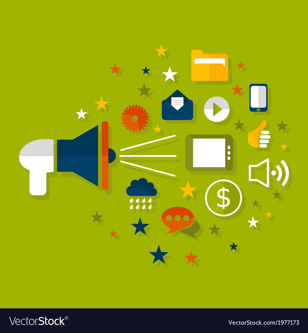 Advertising a megaphone vector | Price: 1 Credit (USD $1)
