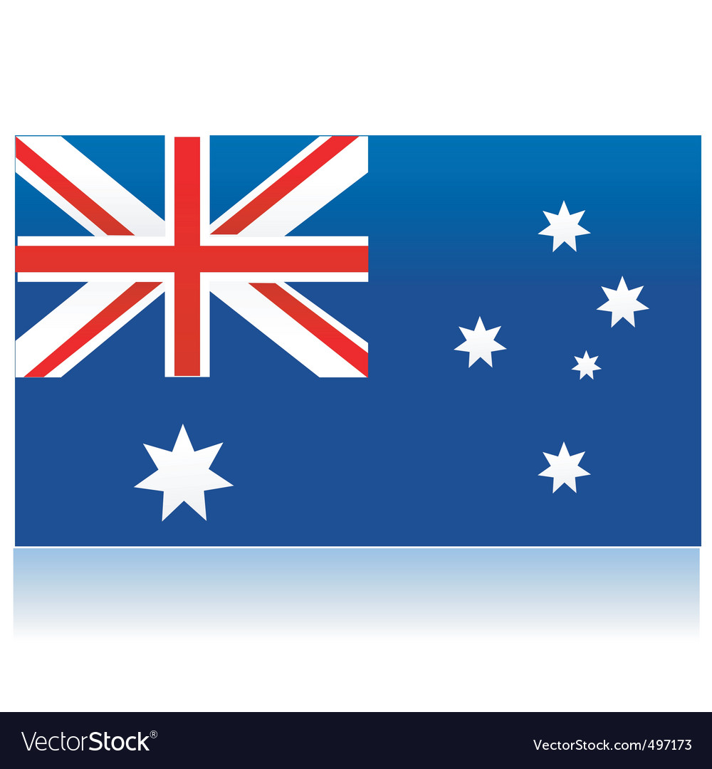 Australia flag vector | Price: 1 Credit (USD $1)