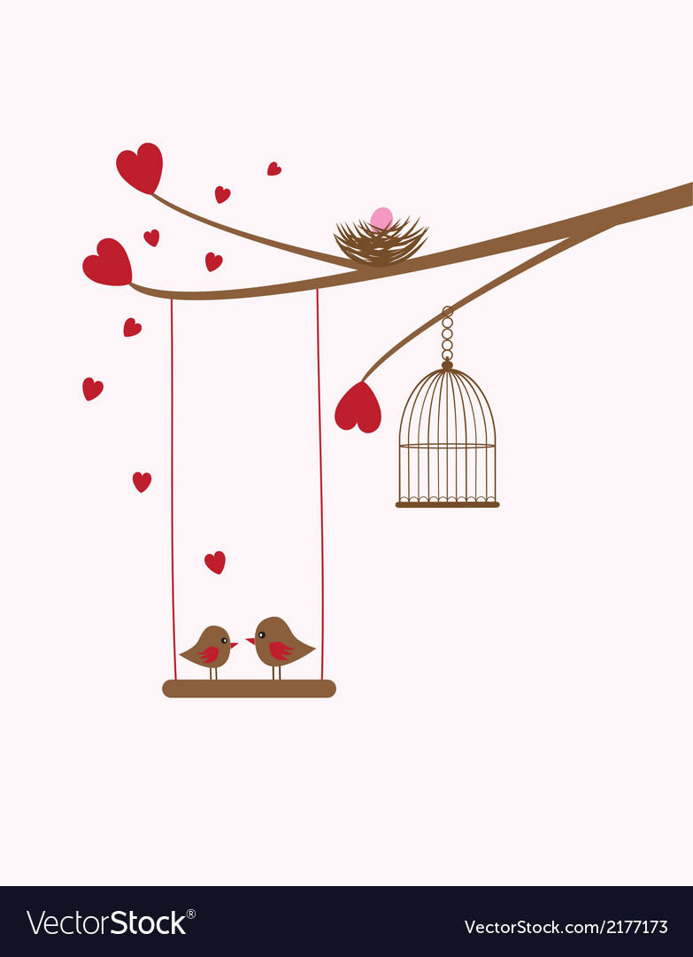Bird swing baby vector | Price: 1 Credit (USD $1)