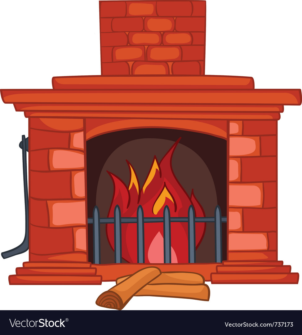 Cartoon home fireplace vector | Price: 1 Credit (USD $1)