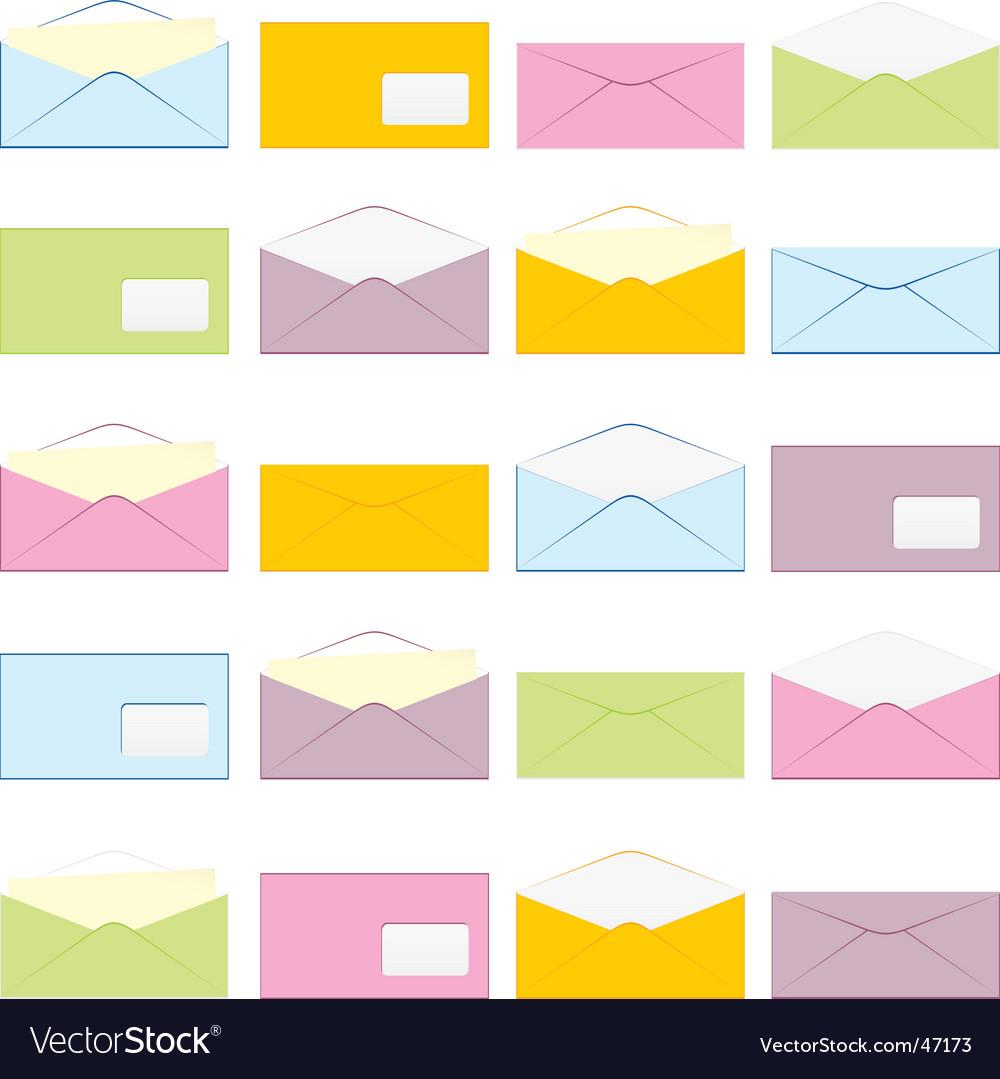 Envelopes set vector | Price: 1 Credit (USD $1)