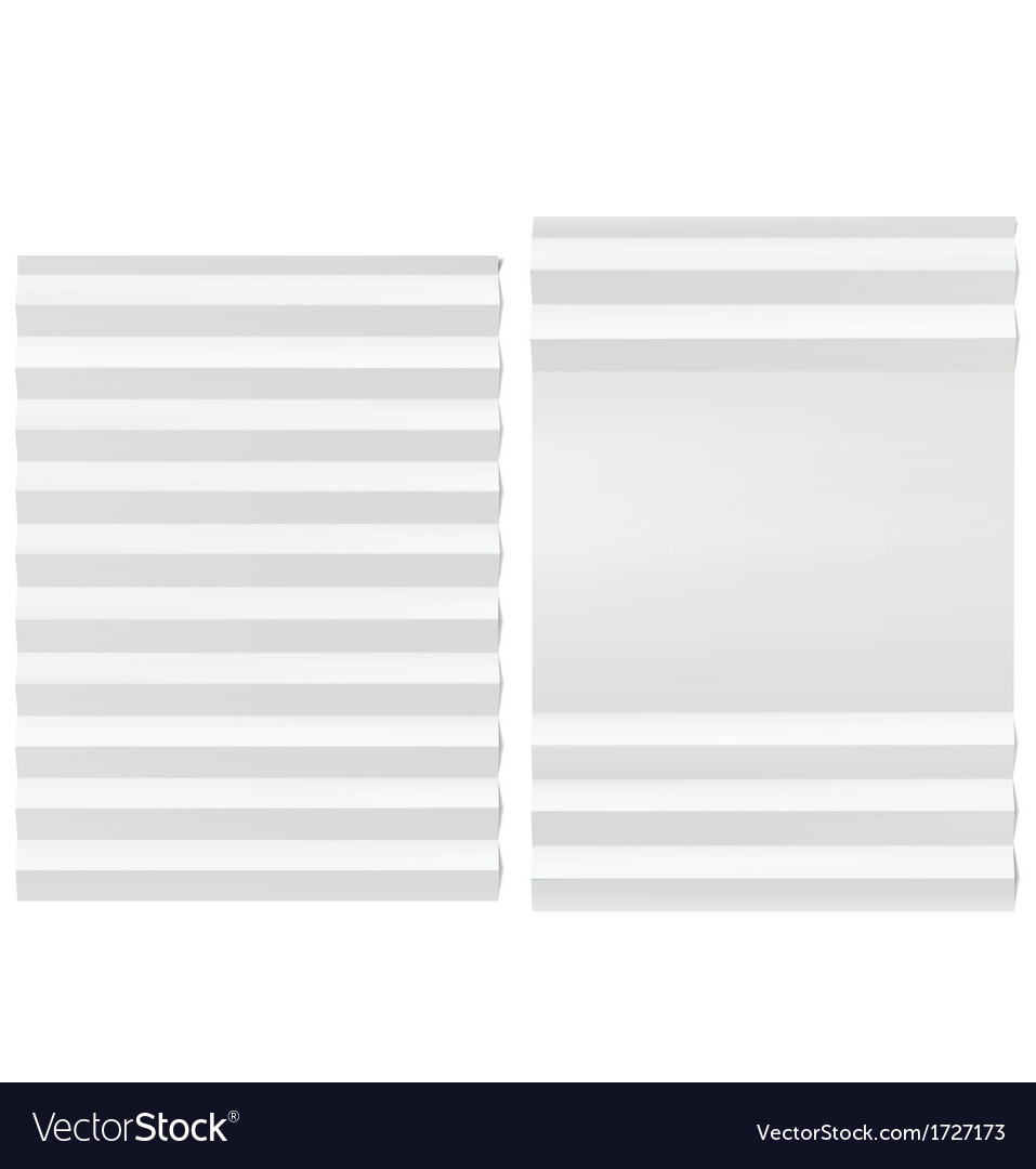 Folded blank white paper vector | Price: 1 Credit (USD $1)