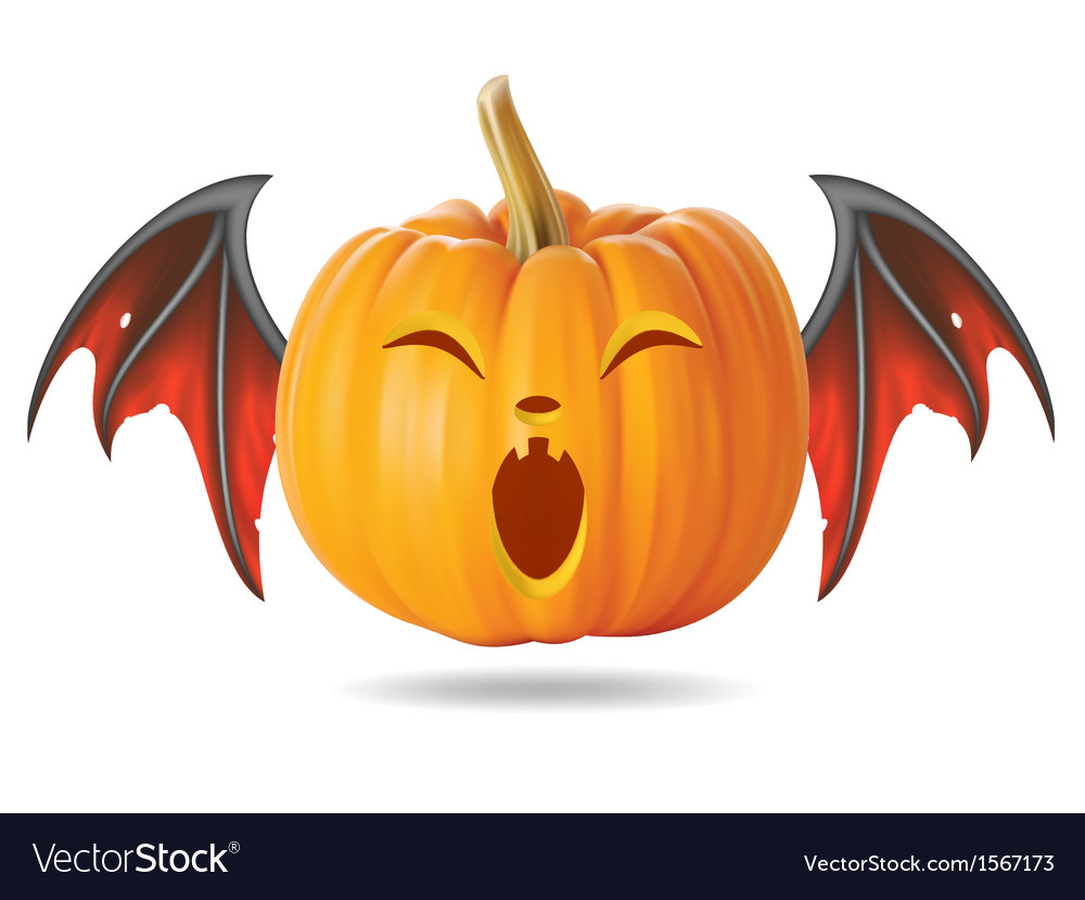 Funny pumpkin2 vector | Price: 1 Credit (USD $1)