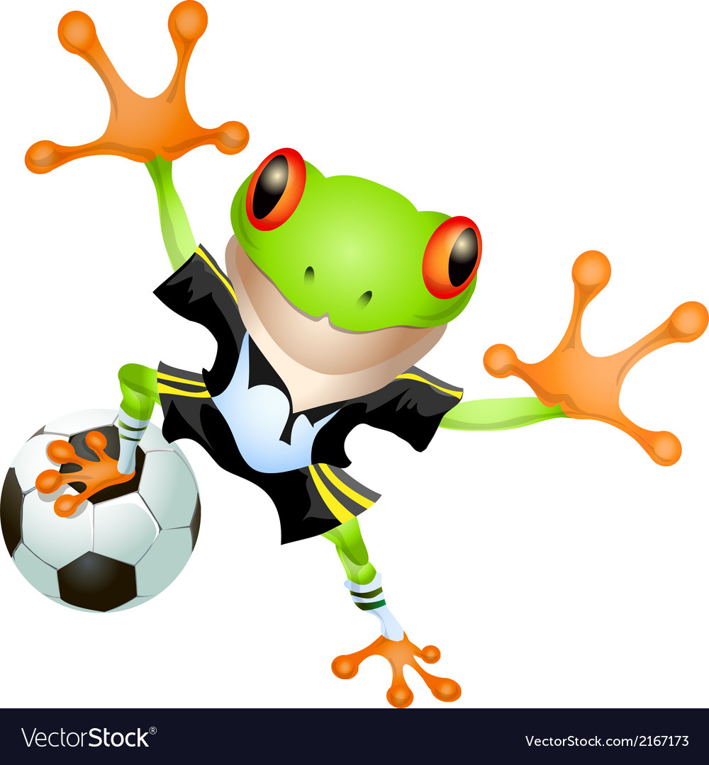 Goalkeeper frog vector | Price: 1 Credit (USD $1)