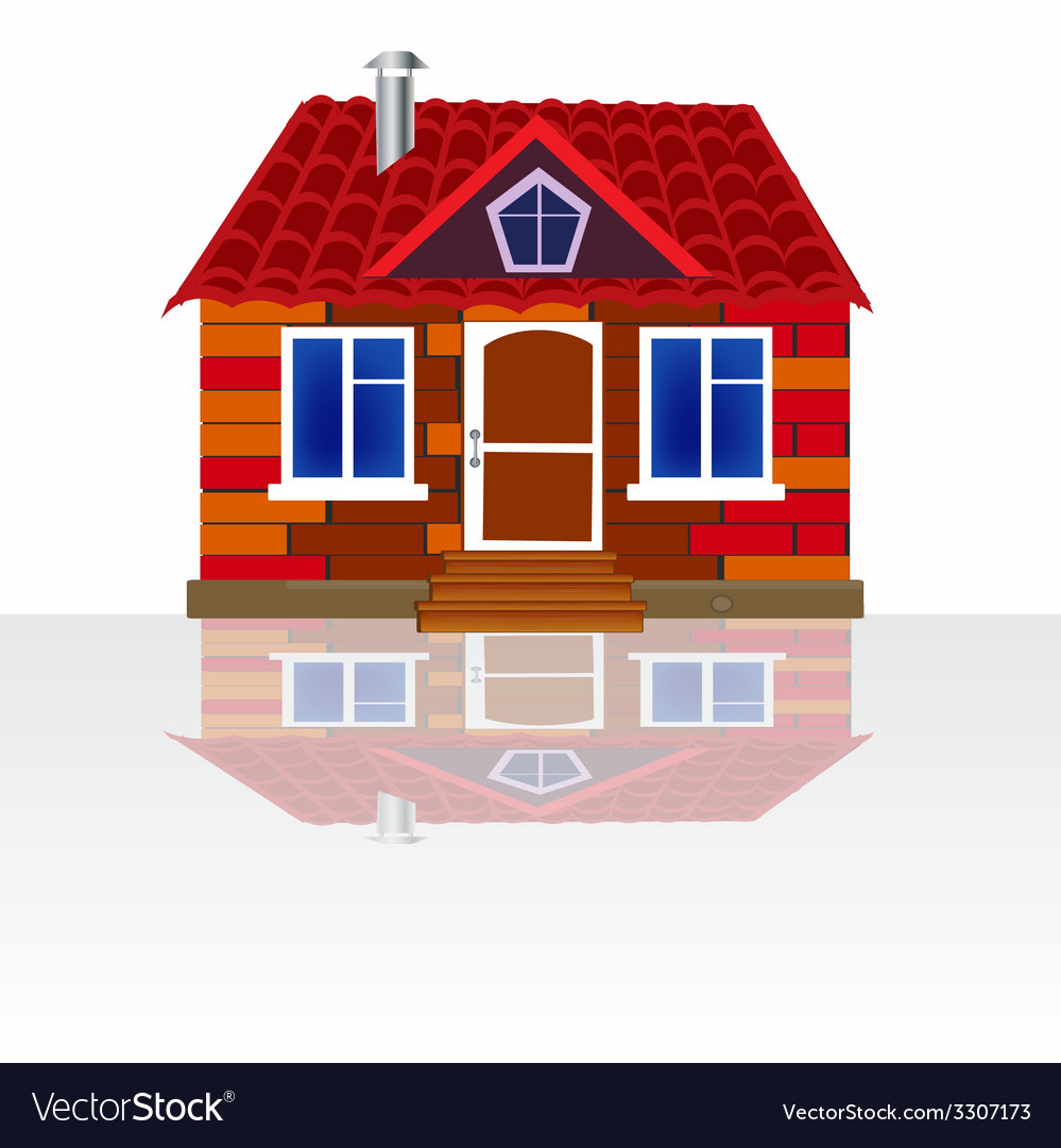 House on white background vector | Price: 1 Credit (USD $1)
