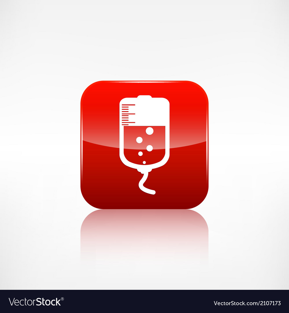 Medical dropper web icon vector | Price: 1 Credit (USD $1)