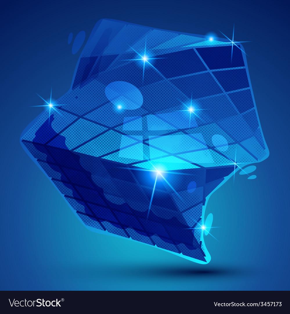 Plastic grain colorful dimensional geometric vector | Price: 1 Credit (USD $1)