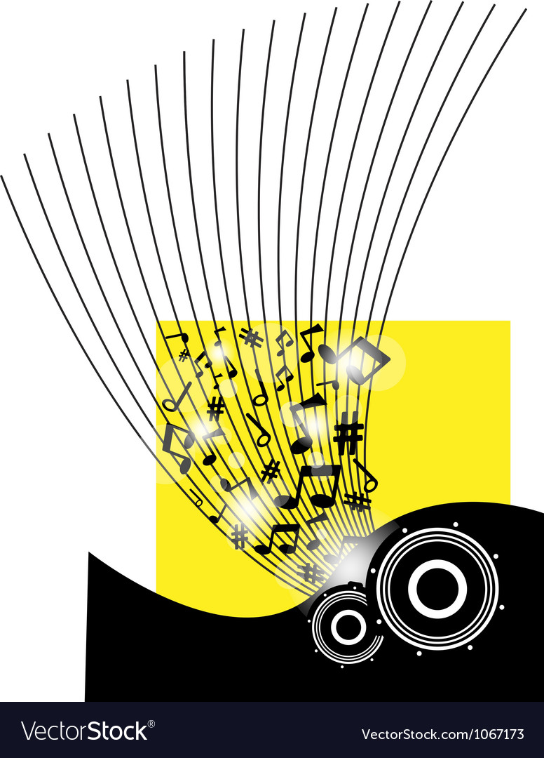 Speakers on beautiful shiny yellow abstract vector | Price: 1 Credit (USD $1)