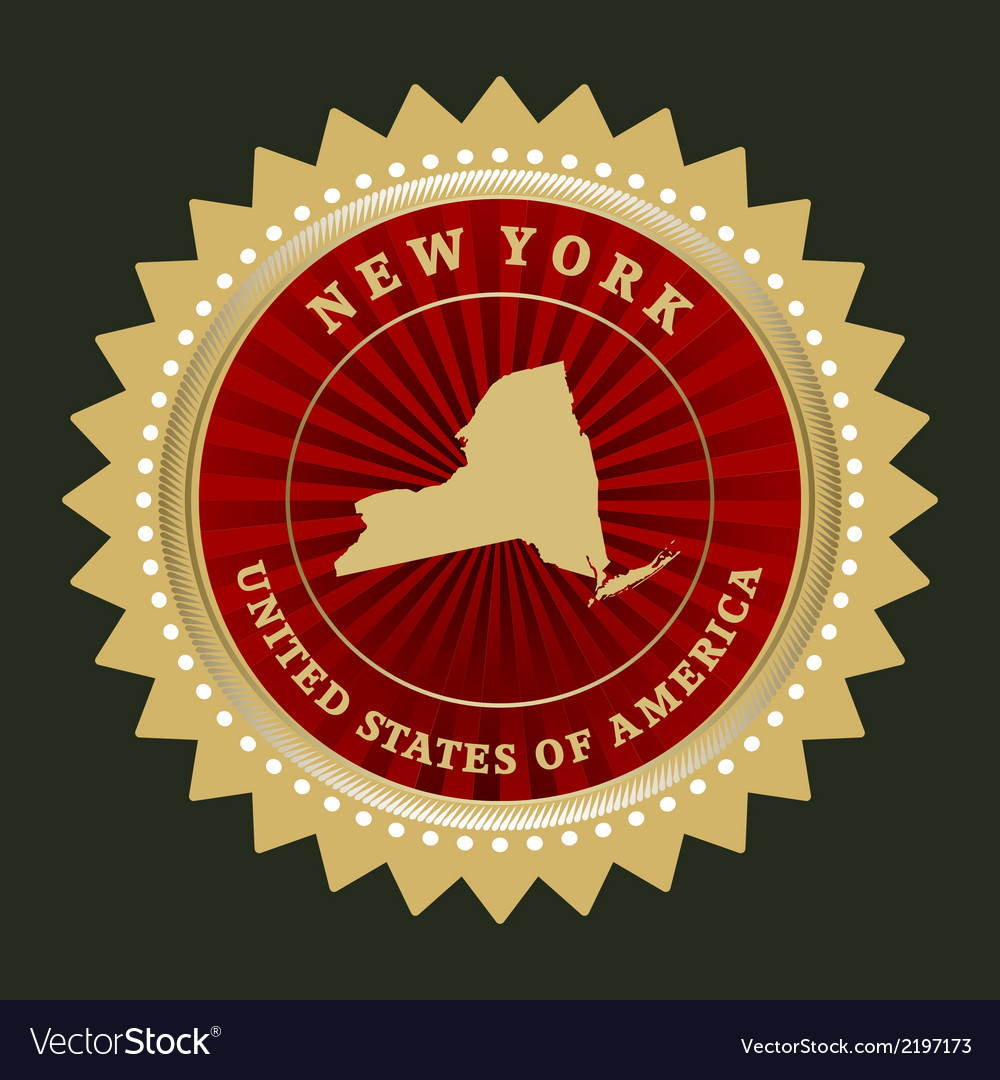 Star label new york vector | Price: 1 Credit (USD $1)