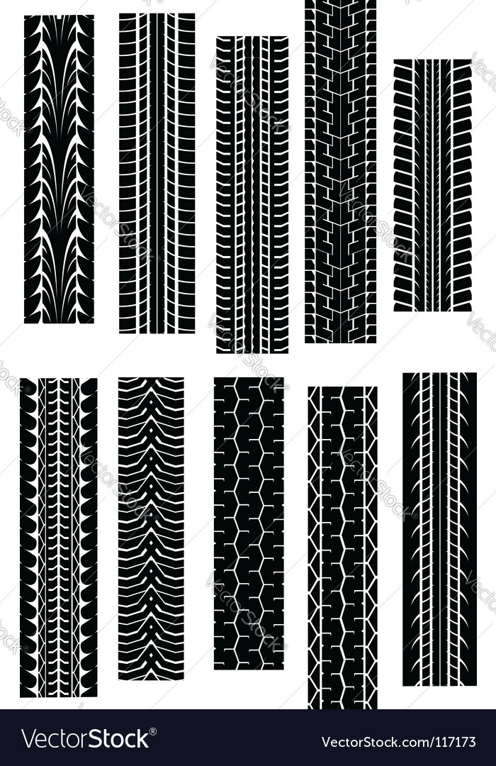 Tire tread patterns vector | Price: 1 Credit (USD $1)