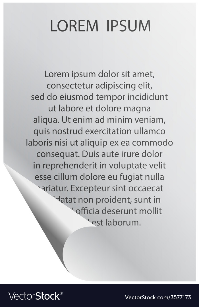 White sheet of paper with your text vector | Price: 1 Credit (USD $1)