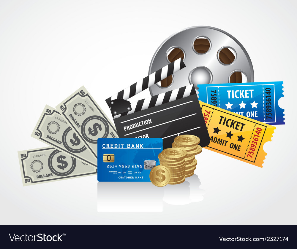 Background of movies contains entries coins bills vector | Price: 1 Credit (USD $1)