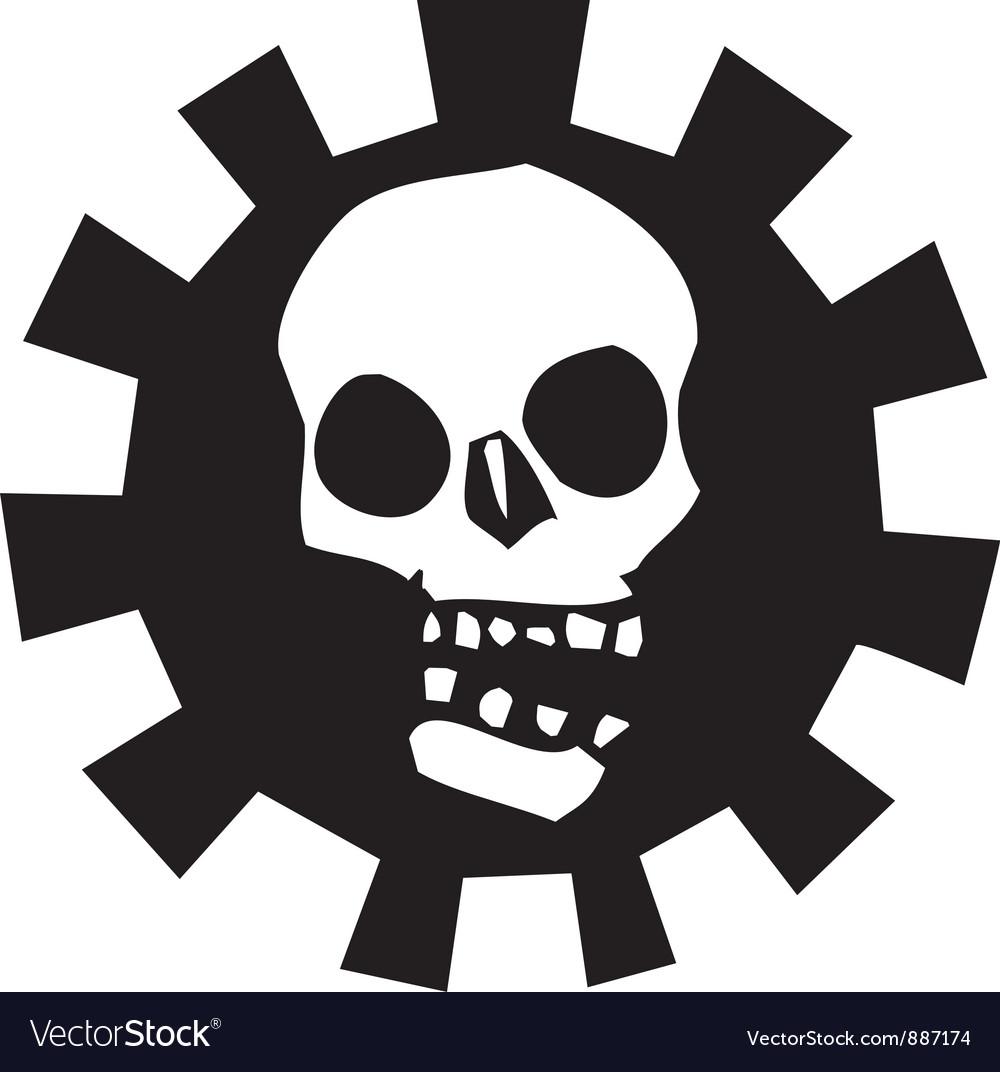 Gear skull vector   Price: 1 Credit (USD $1)