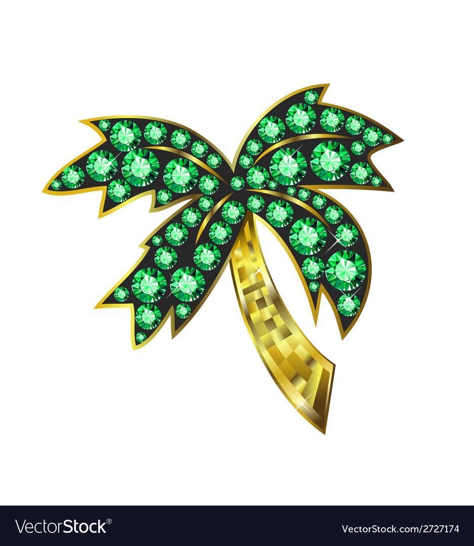 Gem palm vector
